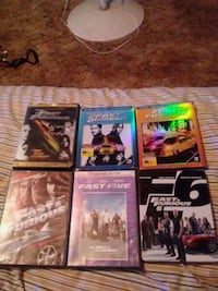 six assorted DVD movie cases