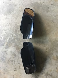 Two black side mirror frames Plano, 60545