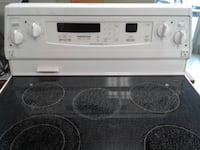 white and black induction range oven null