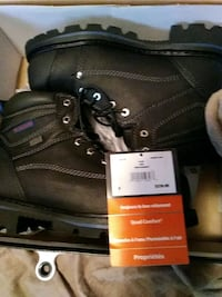 pair of brown leather work boots Edmonton, T5H