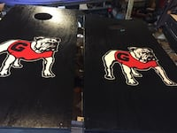Ga corn hole boards custom made perfect for the Dawg fan on your Christmas list