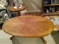 Solid wood Oak coffee table & matching end tables Randleman, 27317