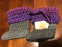 pair of purple-and-gray knitted boots Lashburn, S0M