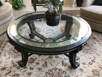 Ornate (heavy!!) glass inset coffee table Las Vegas, 89117