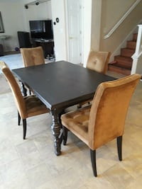 rectangular brown wooden table with six chairs dining set Stockton, 95206