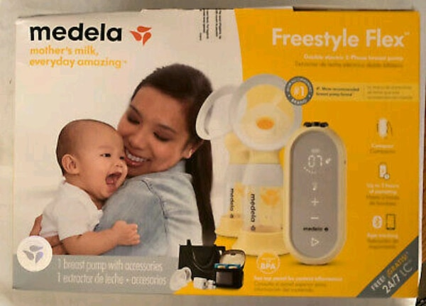 Used New Medela Freestyle Flex Double Electric Rechargeable Breast