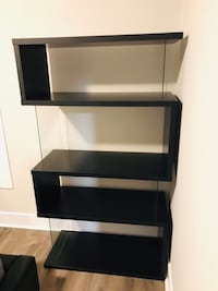 Modern new black book shelf / bookcase!  Washington, 20011