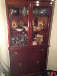 brown wooden cabinet with hutch Welland, L3C 5V9