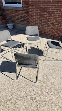 two gray metal framed armchairs Hamilton, L8W 3X2