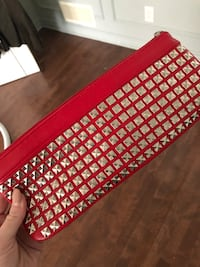 red and black leather crossbody bag Blainville, J7B 1Y1
