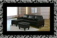 Black sectional with ottoman Beltsville