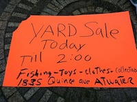 Yard sale today sunday till 2:00 Atwater, 95301