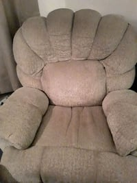 Recliner comfortable.  Can be taken down  in 2 pieces.