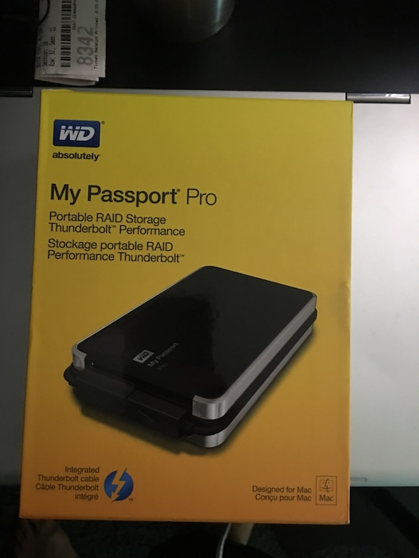 WD 2TB My Passport Pro Portable External Hard Drive - Thunderbolt