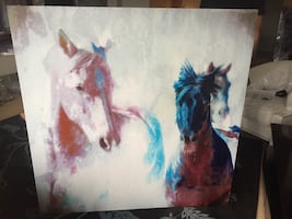 Beautiful Horse Painting Fine Art by Artist Craig Cutler - 4' x 4'