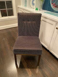 Custom upholstered dining chairs black/tan/gold SET OF 6 Chevy Chase, 20815