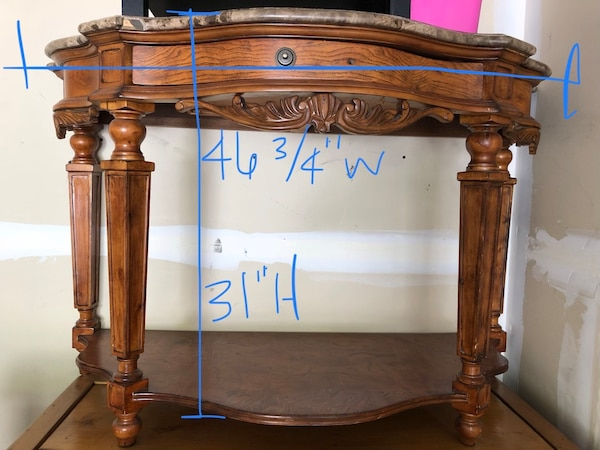 Used Console Table With Granite Top For Sale In Herriman Letgo