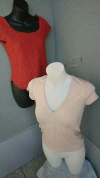 Orange lace & Beige vneck tops (Plz read info) Kitchener, N2G 4X6