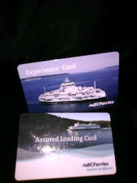 BC ferries gift cards $1,550 on each  Victoria, V8T