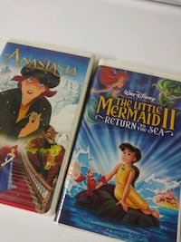 Anastasia and The Little Mermaid 2 vhs tapes