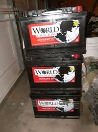 New dealer WORLD SOURCE batteries! Fit many cars SUV trucks $120 firm