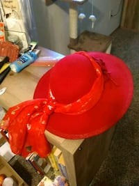 """Red """"I love music by August"""" hat Springfield, 65803"""