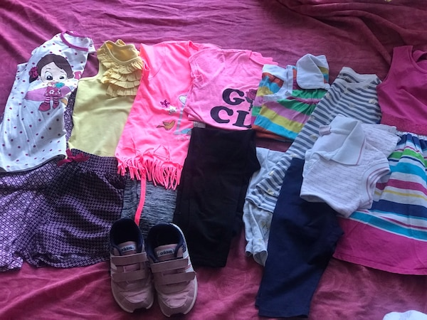 7-8years clothes(14pieces) and shoes