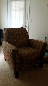brown and red floral fabric sofa chair Wilmington, 28412