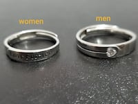 925 silver adjustable couple rings