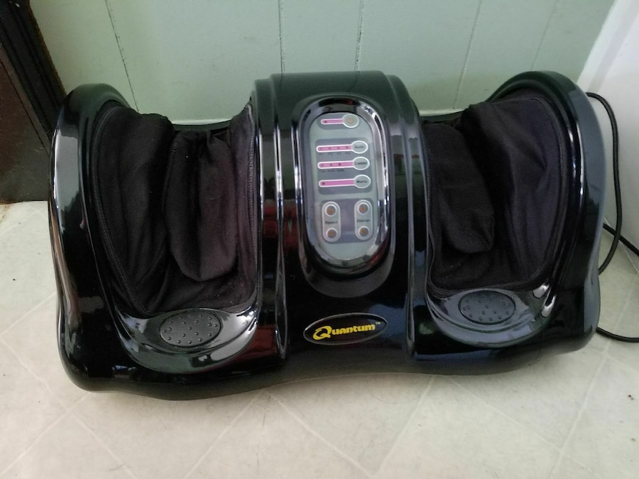 black and gray foot massager, used for sale  Surrey