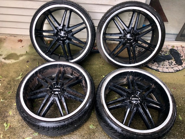 22 Inch Tires >> 22 Inch Boss Wheels Rims With Tires