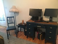 Vintage desk, side table and wooden chair