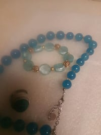 blue and silver beaded bracelet Burleson, 76028