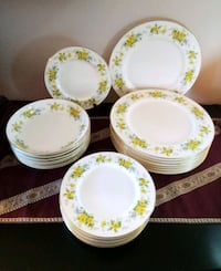 Vintage 24 pc. ROBINSON's Bone China Dinnerware Lake Forest, 92630