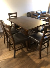 6 Chair Counter Height Dining Table