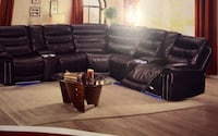 Leather recliner both power and manual with lights at the bottom and available in two colours brown and black Surrey, V3W 1L9