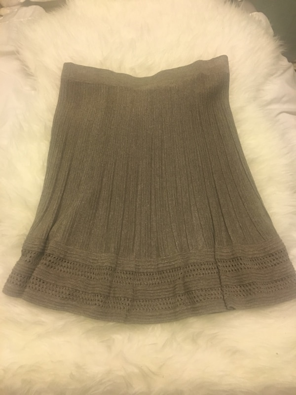 Grey/brown flared skirt- Size M