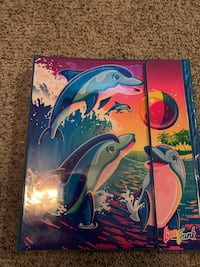 Lisa frank stickers and folders and binder!