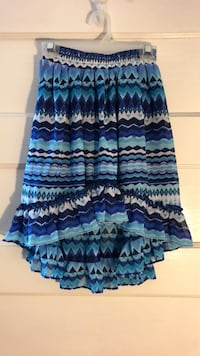 Kid's Blue and white striped skirt, Size S(5/6) Mount Vernon, 10553
