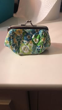 Green, blue, and yellow floral change purse Ballwin, 63021