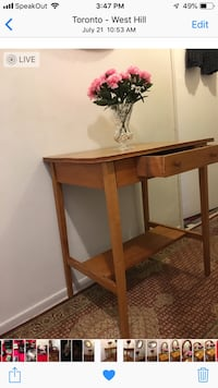 Solid wood table with drawer Toronto