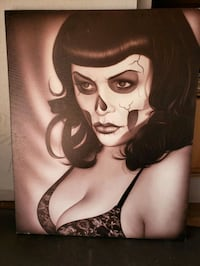 "Beautiful day of the dead pin up 24"" × 30"" Anaheim, 92806"