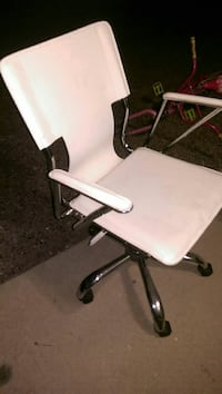 White pleather office chair
