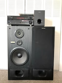 pioneer receiver, pioneer speakers, Sony bass , home theatre Vancouver, V6E 0C2
