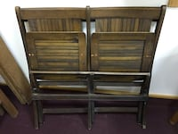 Vintage antique? Grandstand Style 2-up Folding Solid Wood Seats Chairs Nashua, 03060