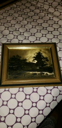 brown wooden framed painting of white and brown flowers East Rutherford, 07073