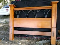 beautiful heavy solid oak wood bed frame also have  box springmatress  Gretna, 70053
