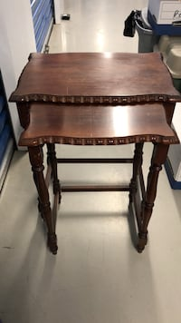Antique wooden side tables  Toronto