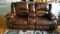 brown leather home theater sofa Seattle, 98105