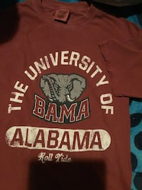 red, black, and white Alabama Roll Tide-printed crew-neck t-shirt Gadsden, 35904